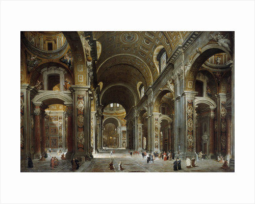 Melchior de Polignac visiting St. Peter's Basilica in Rome by Giovanni Paolo Pannini