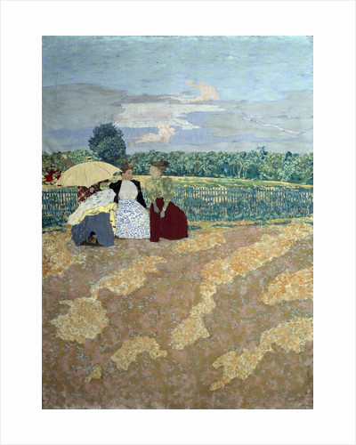 Public Gardens : The nannies, the conversation and the red parasol by Edouard Vuillard