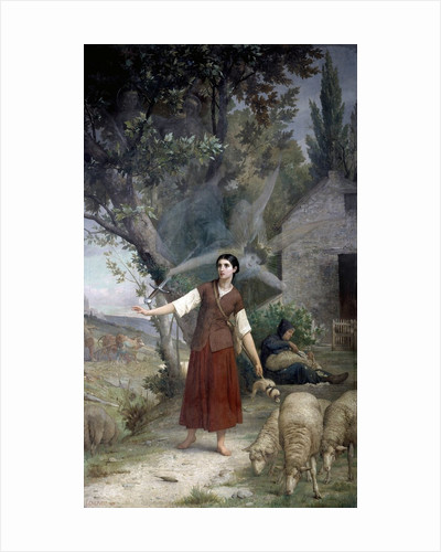 Joan of Arc as shepherdess, at Domremy - by Jules Lenepveu