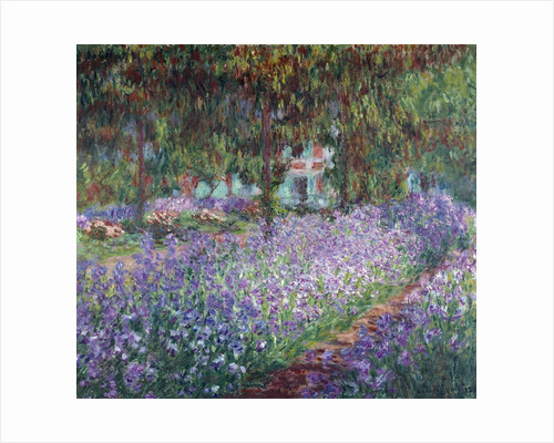 The artist's garden at Giverny - by Claude Monet