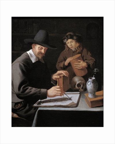 The painter and his pupil by Constantin Verhout
