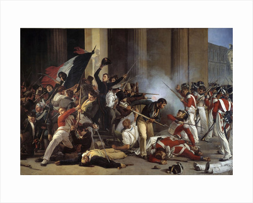 Taking of the Louvre and massacre of the Swiss Guards, 29/07/1830 by Corbis
