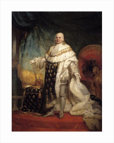 Portrait of Louis XVIII in coronation robes by Corbis