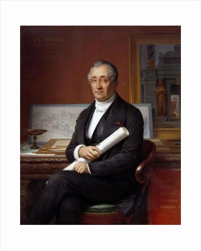 Portrait of Louis Tullius Visconti by Theophile Vauchelet