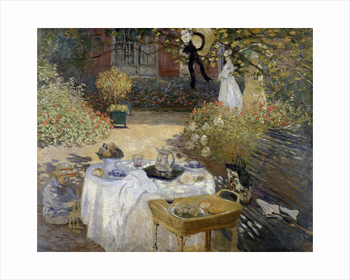 The Luncheon: Monet's Garden at Argenteuil by Claude Monet