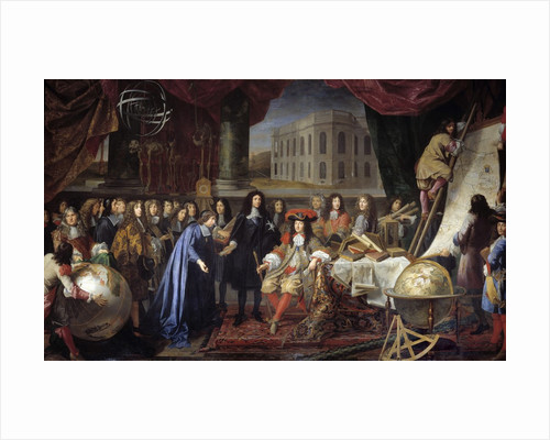 Colbert Presenting the Members of the Royal Academy of Science to Louis XIV by Henri Testelin