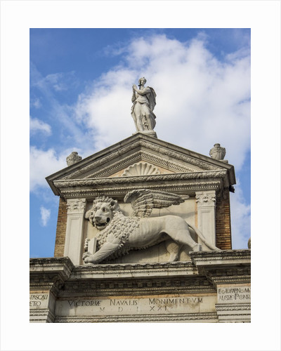 Top of Arsenal entrance with Carvings and Statues by Corbis