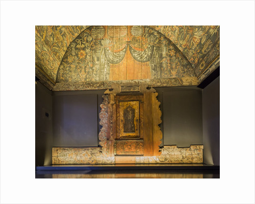 Givat Ram, Israel Museum, Jewish Art and Life Wing, Interior of the Horb synagogue (Horb am Main, Germany, AD 1735, Artist: Eliezer Sussman of Brody) by Corbis