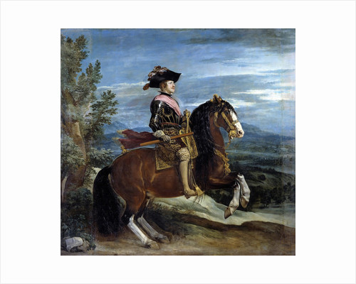 Equestrian portrait of King Philip IV - by Diego Velasquez