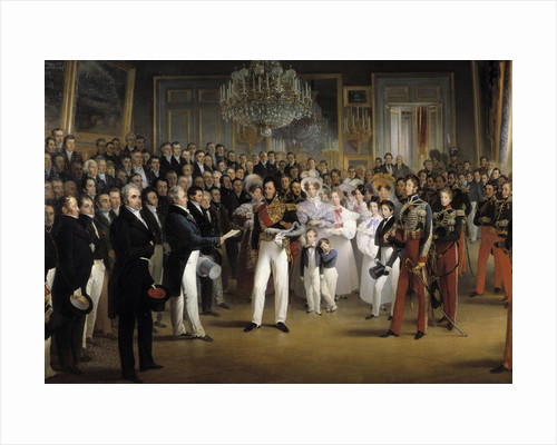 The Chamber of Deputies at the Palais Royal Summoning the Duke of Orleans by Francois Joseph Heim