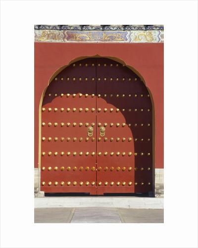 Door ,Temple of Heaven, Beijing, China by Corbis