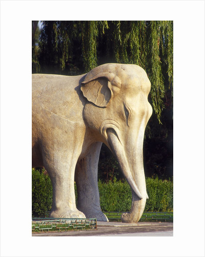 Stone elephant, Sacred Way, Ming Tombs, Beijing, China by Corbis
