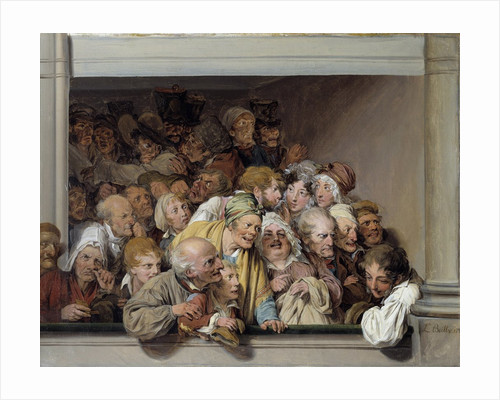 Theatre box, the day of the free performance by Louis Leopold Boilly