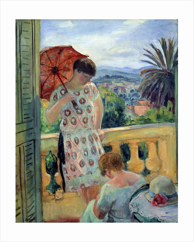 Balcony with a view on the Esterel by Henri Lebasque