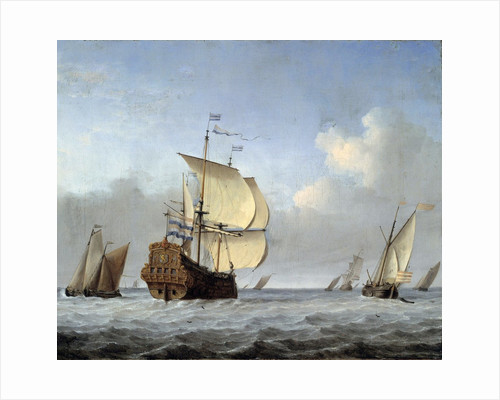 Marine with Flagship by Willem van de Velde the Younger
