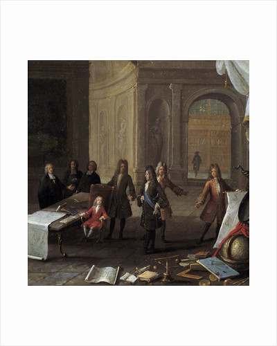A Lesson being given to the Young Louis XV by Corbis