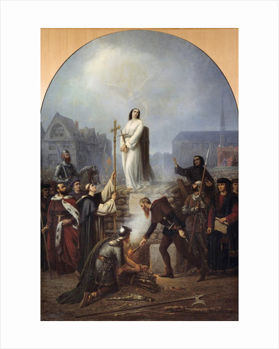 The martyrdom of Joan of Arc at the stake by Frederic Legrip