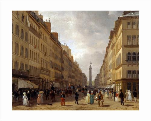View of the Rue de la Paix in Paris by Giuseppe Canella