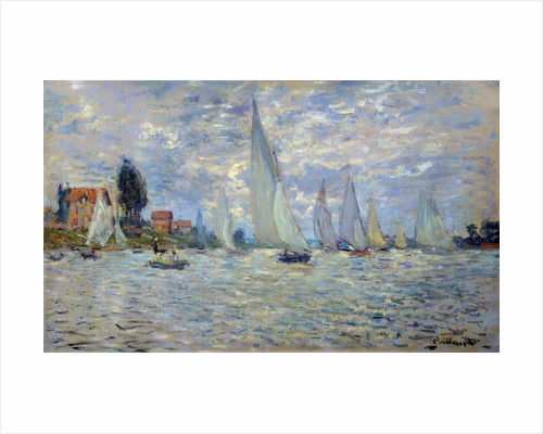 The boats or Regatta at Argenteuil by Claude Monet