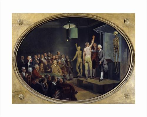 William Hunter teaching anatomy at the Royal Academy by Johann Zoffany