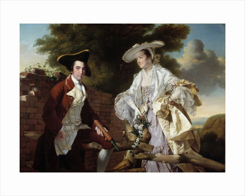 Portrait of Peter Perez Burdett and his wife Hannah by Joseph Wright of Derby