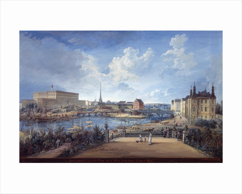 View of Stockholm by Elias Martin