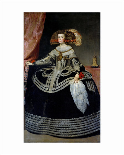 Portrait of Queen Mary-Anne of Austria by Diego Velazquez