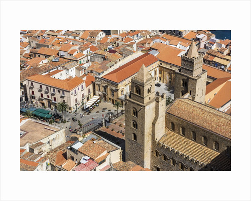 The roofs of old town and the towers of the Duomo (Cathedral) from the Rocca (fortress) by Corbis