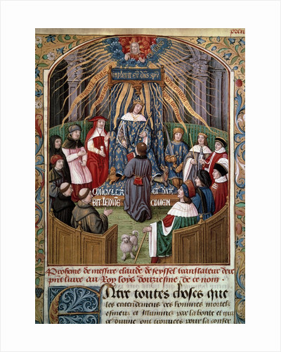 Claude Seyssel offering his book to King Louis XII by Corbis