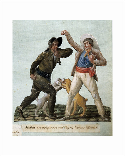 French revolution : two citizens arguing by Corbis