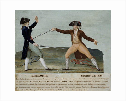 French Revolution : duel between Charles Lameth and the Marquis de Castries by Corbis