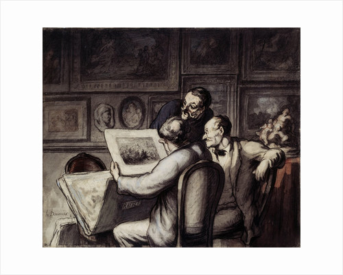 Lovers of prints by Honore Daumier