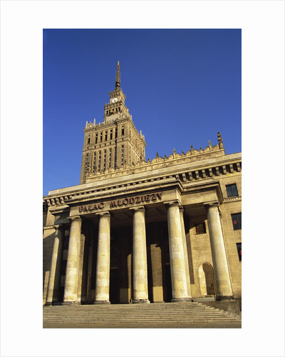 Palace of Culture and Science, Warsaw, Poland by Corbis