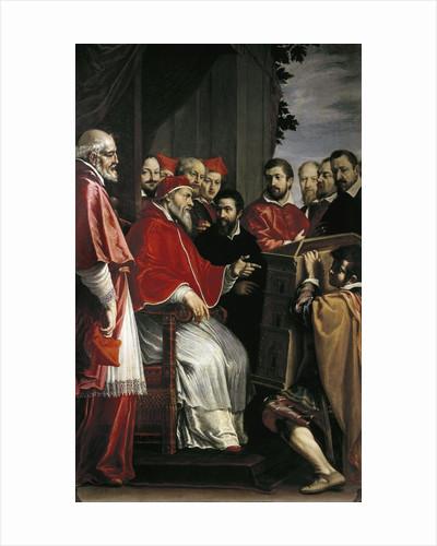 Michelangelo presents his plans for Santa Caterina della Ruota by Corbis