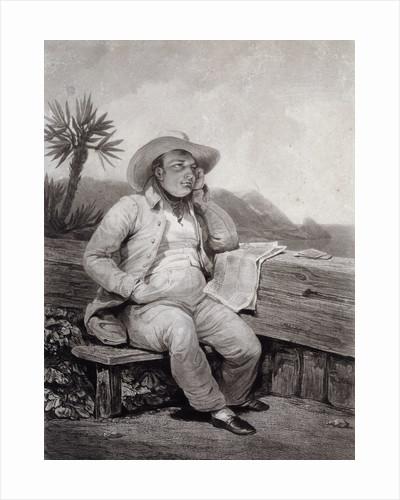 Portrait of Napoleon I in St Helena by Samuel William Reynolds