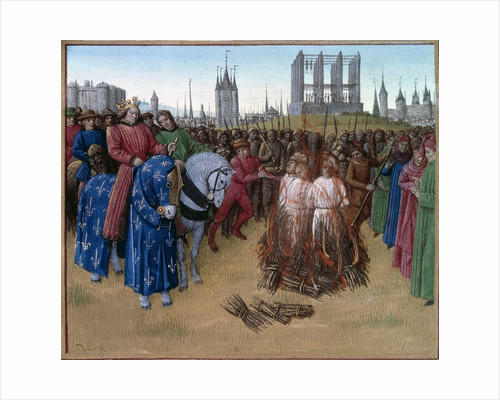 Conviction and punishment of the Amalricians by Jean Fouquet