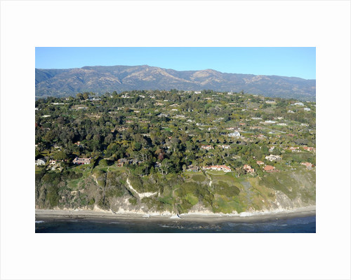 Aerial view of a coastal community in Santa Barbara, California by Corbis