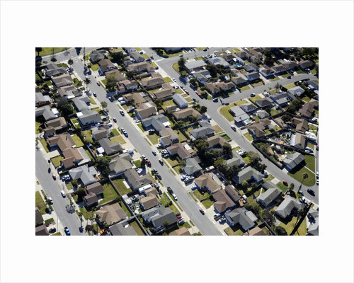 Aerial view of homes in Oxnard, California by Corbis