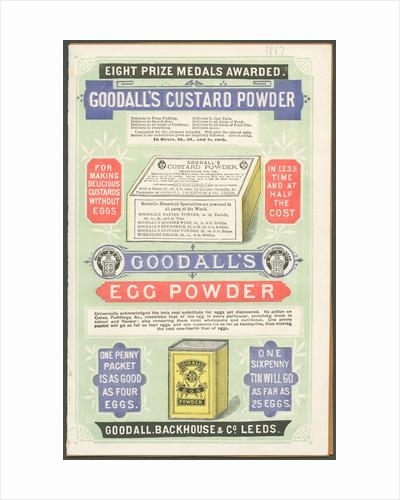 Goodall's Custard Powder, 1887. by Corbis