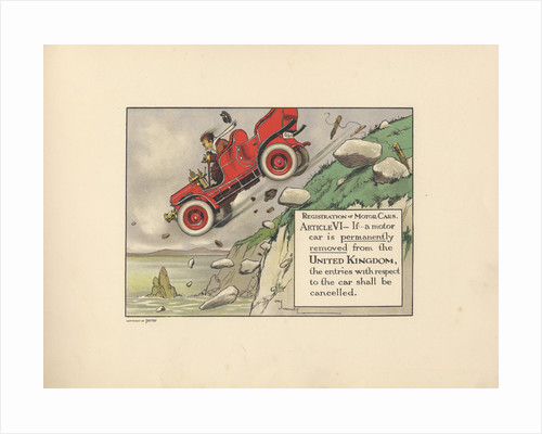 Motoritis, or other interpretations of the Motor Act. Article VI: Registration of Motor Cars, 1906. by Corbis