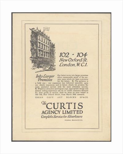 Curtis Advertising Agency, 1920s. Artist: Wilfred Fryer by Corbis