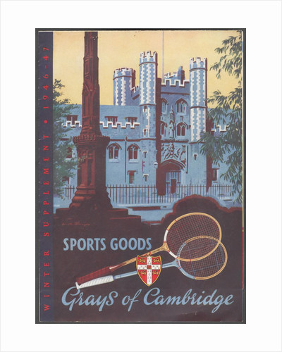 Gray's of Cambridge Sports equipment, 1946. Artist: Wilfred Fryer by Corbis