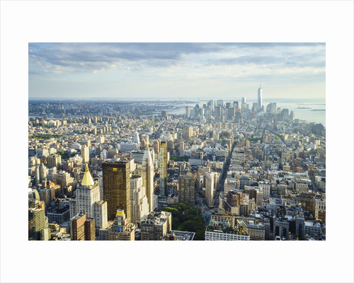 Manhattan skyline from above, New York City by Corbis