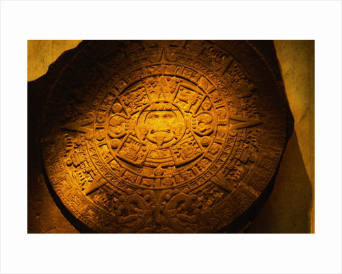 Aztec Carved Calendar Stone by Corbis