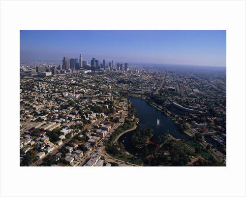 Downtown Los Angeles and MacArthur Park by Corbis