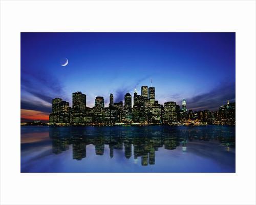 Manhattan Skyline and Reflection by Corbis