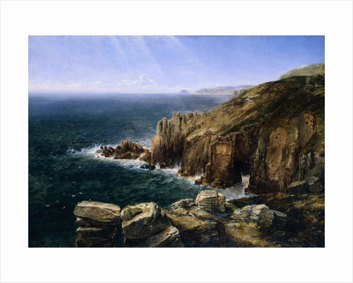 The Land's End, Cornwall by Thomas Creswick