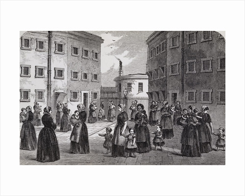 Engraving Depicting Mothers, with Their Children, Exercising at Tothill Fields Prison by Corbis