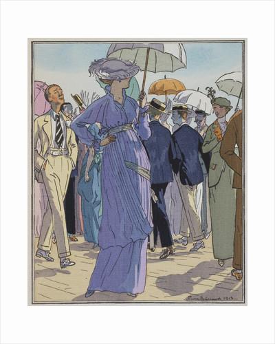 Fashion Illustration of Cheruit's Beach Dress by Pierre Brissanol