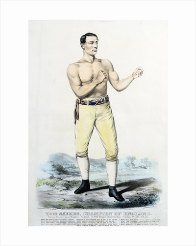 Tom Sayers, Champion of England Victorian Print by Corbis